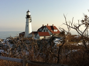 You have seen this in many pictures. Visit Portland Head Light in person. Photo by S. Emmons