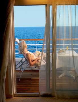 Having the perfect personal space is of primary importance in the perfect cruise.
