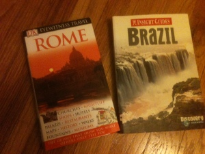 Select a book which matches the scope of your trip -- one city or an entire country