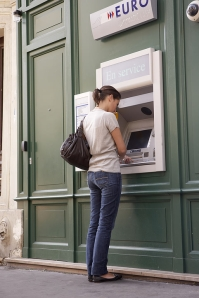 ATMs offer the best access to cash internationally.