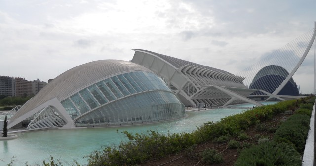 Left to right, the Hemisferic, El Museu de les Ciències Príncipe Felipe, and LOceanografic in the City of Arts and Sciences Picture by G. Emmons