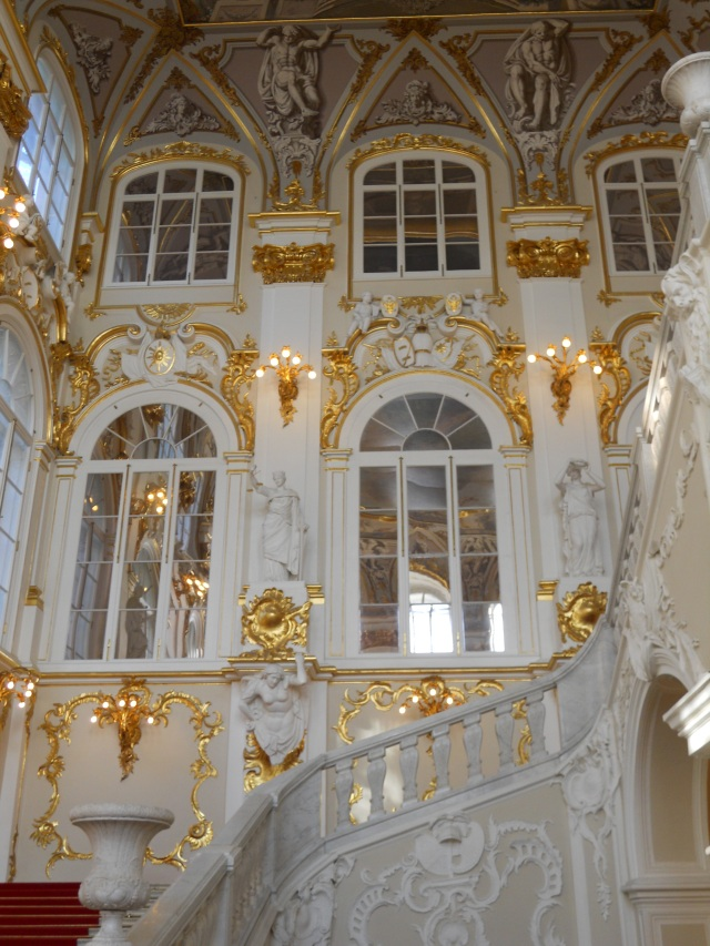 The grand staircase of the Hermitage leads to even more treasures. Photo by J. Emmons