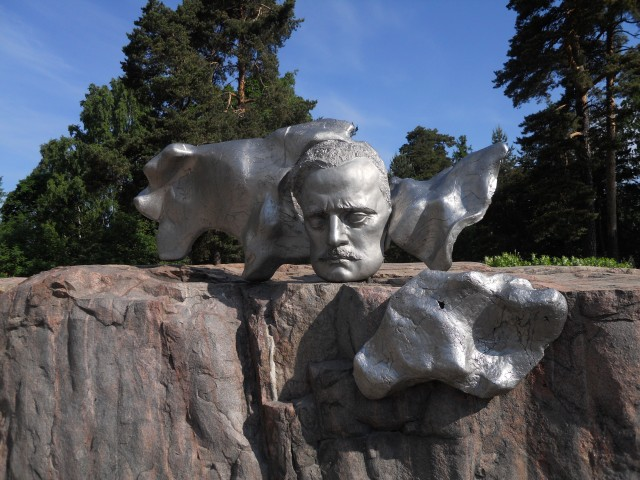 Part of the monument in honor of Jean Sibelius in Helsinki Photo by G. Emmons