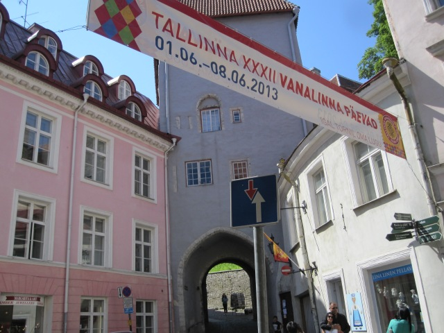 The streets in the historic center of Tallinn retain their medieval appearance. Photo by J. Emmons
