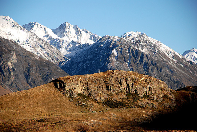 This New Zealand location was used for Edoras in the Lord of the Rings. Photo by Phillip Capper