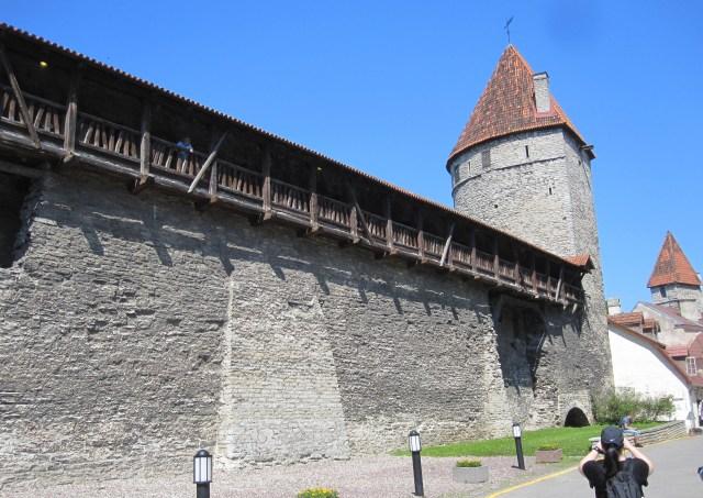 The medieval city wall around Tallinn, Estonia. Photo by J. Emmons