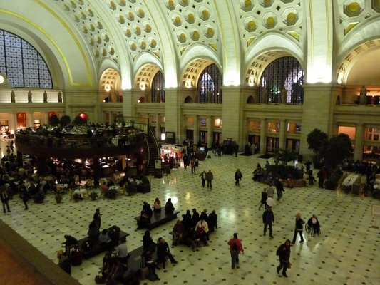 The original style and scale of Washington's Union Station is still apparent. Photo by Melissa M