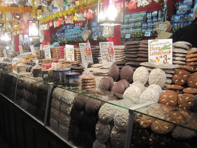 One of several stands offering Nuremberg's specialty - lebkuchen, gingerbread in many variations.