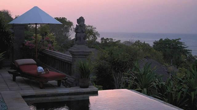 This infinity plunge pool is at Four Seasons Jimbaran Bay in Bali.