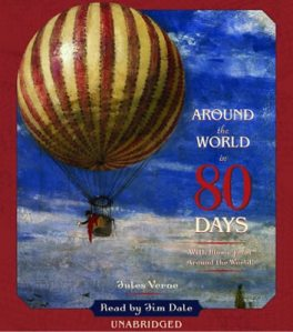 For some reasons hot air balloons often feature in illustrations for the book. Marketing people ought to know the story better.