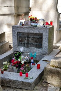 Grave site of  Jim Morrison, lead singer of the Doors, as it was last autumn. Photo from Mikestravelguide.com