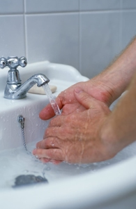Wash or sanitize your hands at every opportunity,