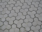 Even the pavement at the visitor center forms hexagons!