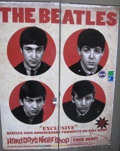 This early poster remains outside the Cavern entrance on Mathew Street.
