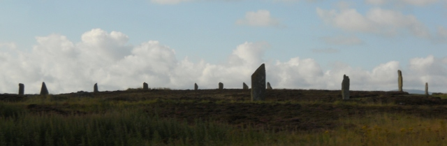 The Ring of Brodgar is the larger circle with more stones still standing.  Photo by G.Emmons