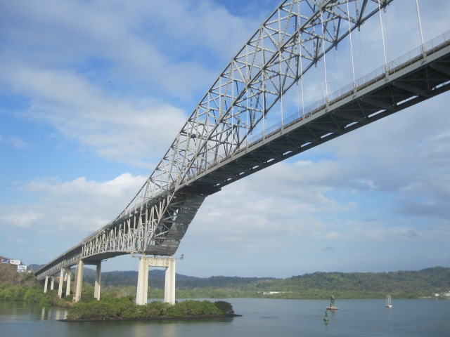 Passing under the Bridge of the Americas is the start of the adventure.  Photo by J. Emmons