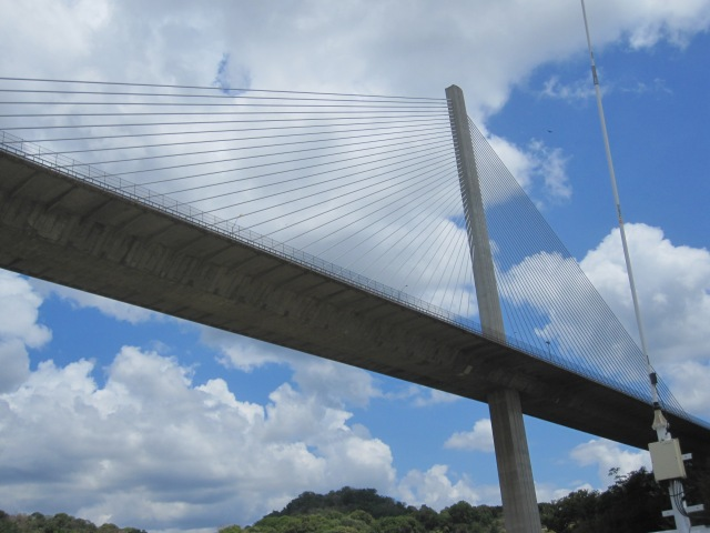 We pass under the new Centennial Bridge on the way to Gatun Lake. Photo by J. Emmons