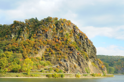 The Lorelei lured sailors into dangerous waters at a bend in the Rhine. Photo by Pajche | Dreamstime.com - Loreley Rock, Rheinland Photo