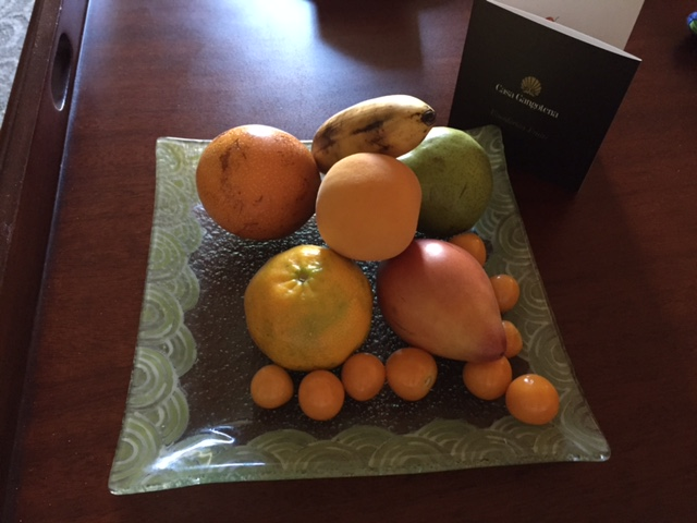 "Nothing says ""Welcome"" like a plate of local fruits."