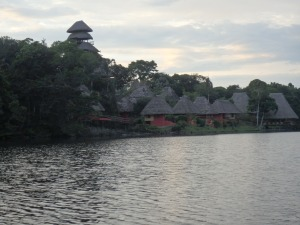 Late afternoon view of Napo Wildlife Center village Photo by G. Emmons
