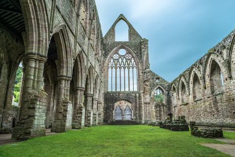 How could a busload of English majors pass up a stop at Tintern Abbey? Photo by Matthi | Dreamstime.com