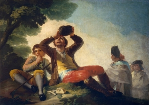 The Ritz menu featured this Goya painting - The Drinker