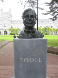 A bust of George Boole at University College Cork Photo by J. Emmons