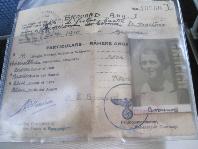 A Nazi-issued identification card from the years of occupation. Photo by J. Emmons