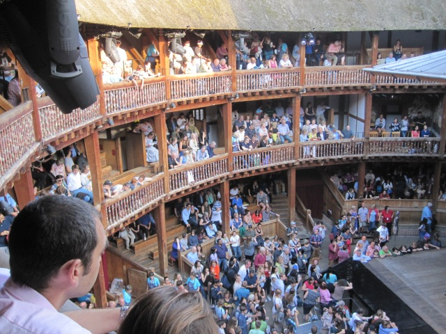 This was my view from the top balcony. Afternoon sun was hard on people directly across for a short time.